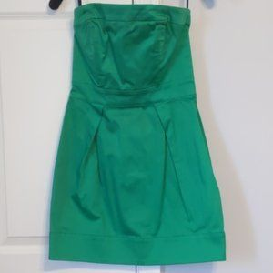 French Connection Strapless Dress Green Size 4
